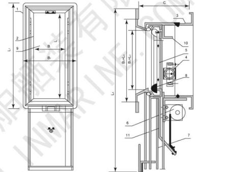 H.LHCC marine vertical sliding window